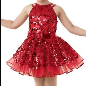 Weissman MC Red Ballerina Tutu Dance Costume